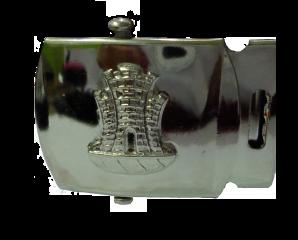 Fivela CAPD II com brasão prata